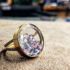 """Moritz Glik (@moritzglik) on Instagram: """"Perfect fit for summer! . . #ring #18kgold #diamond #rosecutdiamonds #sapphires #shake"""
