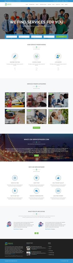 Bizfinder a modern services and business directory theme bizfinder a modern services and business directory theme directory service business and template flashek Images