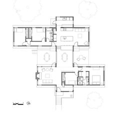 3 bar house plan by aleck wilson architects