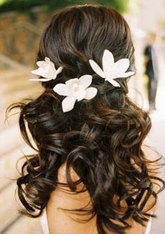 Natural Touch Orchids Hair Piece Comb in your choice of Color