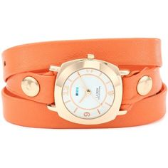 La Mer Collections Women's LMODY3003 Odyssey Wrap Collection Sunrise Orange Watch