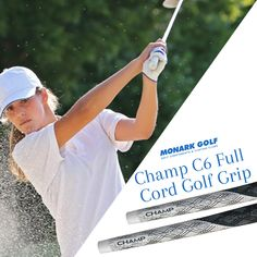 "Golf equipment encompasses the various items that are used to play the sport of golf.  Shop from the world's largest selection and best deals for Golf Products. Get the best Champ C6 Full Cord Golf Grip - Standard Black/White 0.600"" Round..  Shop Now !!  #Golf #Golfer #Golfing #GolfComponents #GolfProducts #Weekend #SaturdaySale #Sale #BestOffers #GolfGrips Golf Club Grips, Golf Shop, Popular Sports, Play Golf, Champs, Cord, Baseball Cards, Black And White, Tips"