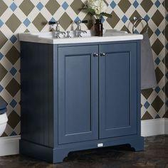 Bayswater 2 Door Basin Cabinet with Traditional Basin : UK Bathrooms