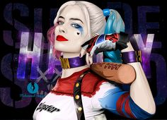 """Margot Robbie as Harley Quinn """" Suicide Squad """"  Vector art project"""