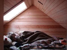 Small attics could be a great solution for a child's bedroom. Really, who didn't dream of this kind of a thing when they were a kid?