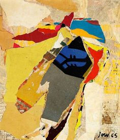 Asger Jorn-The Busy Lover, Decollage, 1965