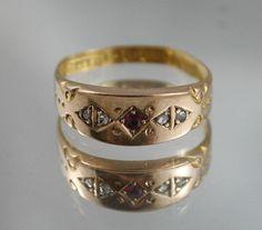 Free post...Antique Victorian hallmarked 15CT625 Rose Gold