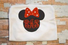 Monogram Minnie Mouse Shirt Disney Trips and by SpoiledSweetkids