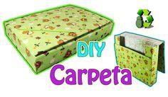 222. DIY Carpeta de cartón - Regreso a Clases (Reciclaje) Ecobrisa