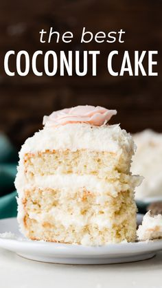 Fluffy and moist coconut cake! This coconut layer cake features shredded coconut. - Fluffy and moist coconut cake! This coconut layer cake features shredded coconut, coconut milk, and - Food Cakes, Cupcake Cakes, Cheesecake Recipes, Dessert Recipes, Layer Cake Recipes, Layer Cakes, Coconut Milk Recipes, Coconut Desserts, Best Coconut Cake Recipe Ever