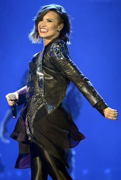 Demi Lovato performing in Denver, Colorado on the DEMI World Tour- Sept. 25