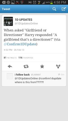 Well hey there Harry.. I happen to want to have a one direction member boyfriend. Spread the word!