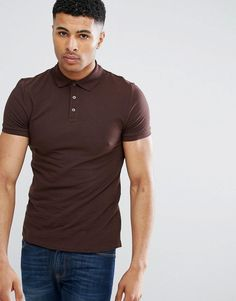 Get this Asos's polo shirt now! Click for more details. Worldwide shipping. ASOS Muscle Fit Pique Polo In Brown - Brown: Polo shirt by ASOS, Stretch pique, Polo collar, Button placket, Slim-cut sleeves, Tight fit to the body, Skinny fit � cut closely to the body, Machine wash, 95% Cotton, 5% Elastane, Our model wears a size Medium and is 188cm/6'2 tall. ASOS menswear shuts down the new season with the latest trends and the coolest products, designed in London and sold across the world…