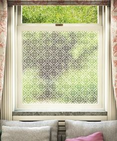 Muscat Design Frosted Window Film Pattern by MissPrint Modern Window Film, Frosted Window Film, Privacy Glass, Contemporary Interior Design, Window Treatments, The Help, Pattern Design, Decorative Windows, House Ideas