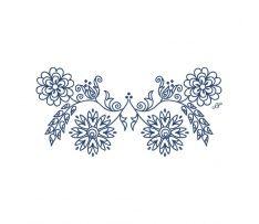 Výšivka vajnory, vtáčie búdky, malé, 22x10 cm Folk Embroidery, Cross Stitch Embroidery, Embroidery Patterns, Slavic Tattoo, Future Tattoos, Pyrography, Handicraft, Quilling, Silhouette Cameo