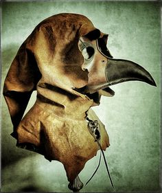 Dr Death Leather Plague Doctors Mask Hood is by pirateswife, £90.00