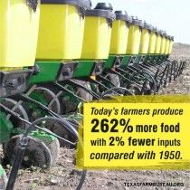 Today's farmers produce more food with fewer inputs compared with 1950 - from Texas Farm Bureau Agriculture Facts, Modern Agriculture, Animal Science, The Best Is Yet To Come, Grow Your Own Food, The Good Old Days, Farmers, Texas Farm, Mind Maps