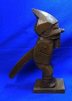 Vintage German Wood Carved Gnome / Dwarf Nutcracker #R