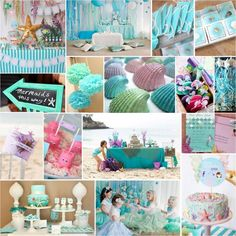 mermaid birthday party | Pretty Parties: Little Mermaid Birthday Party : Intertwined