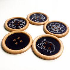 2 pcs Large Buttons Chalkboard button crative children accessories funny button unique wooden button 50mm kids clothes kids button nature