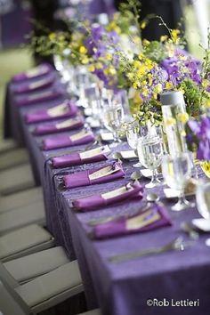 indigo wedding table