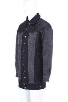 Color Block Splicing Denim Coat #Romwe