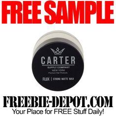 ►► FREE SAMPLE - Carter Supply Company Hair Products ►► #Free, #FREESample, #FREEStuff, #Freebie ►► Freebie-Depot