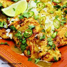 Coconut Lime Chicken:  This is as wonderful as it looks.  Make double the marinade/sauce.  Served it over coconut rice.  Pat