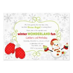 Custom Winter Wonderland Birthday Invitation