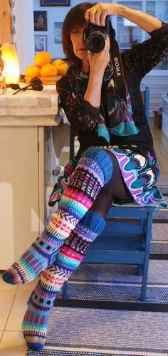 Irish lace, crochet, crochet patterns, clothing and decorations for the house, crocheted. Fair Isle Knitting, Loom Knitting, Knitting Socks, Knitting Patterns, Crochet Patterns, Love Crochet, Irish Crochet, Knit Crochet, Knit Stockings