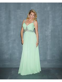 Column Beaded Straps Sleeveless Plus Size Long Chiffon Maternity Prom / Evening / Formal Dresses 00201047