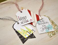 Pattern Paper Layered Christmas Tags