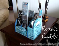 tutorial for remote caddy.  I'm thinking maybe I could use few on my desk in my sewing room and even in the bathroom.