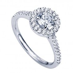 Contemporary Halo Engagement Ring  This is the exact ring that I want!