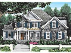 Eplans French Country House Plan - Beautiful Country Cottage - 2687 Square Feet and 4 Bedrooms from Eplans - House Plan Code HWEPL08751