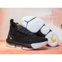 de3d35bac685 Nike LeBron 16 Black Gold-White New Year Deals