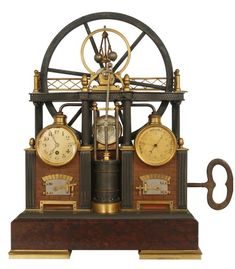 French industrial steam engine clock.