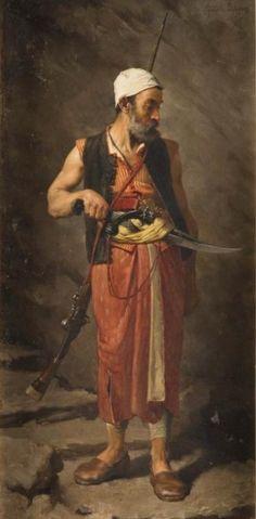 Théophile Lybaert (1848-1927) - Algerian Soldier,