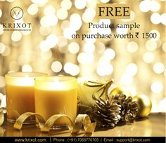 Try our New Fragrances. Get free product sample on purchase worth Rs. 1500/- or above.  https://www.krixot.com/ #newyear2017 #sale & #offers