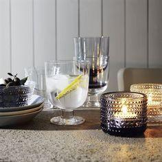 Kastehelmi candleholder - grey - Iittala