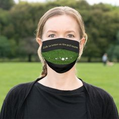Golf Life is better on the golf course Adult Cloth Face Mask