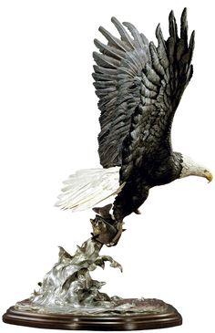 """Splashdown""   Eagle Sculpture"