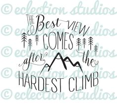 The best view comes after the hardest climb by EclectionStudios