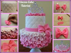 Princess Crown Ruffle Cake Tutorial   Princesses & Tiaras ~ The Royal Celebration Zone   Princess Party Ideas, Princess Themed Events, Princess Party Inspiration & More