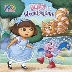 Leap through the looking glass with Nickelodeon's Dora the Explorer in the all-new TV event and DVD, Dora's Adventure in Wonderland! Little boys and girls ages 3 to 7 will love this full-color storybook featuring Dora and Boots's latest adventure. Little Boy And Girl, Little Boys, Boy Or Girl, Dora Diego, Huggies Diapers, Castle In The Sky, Dora The Explorer, Adventures In Wonderland, Personalized Books