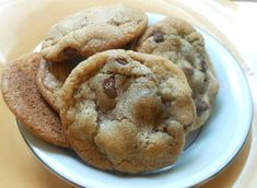 The Best Big Fat Chewy Chocolate Chip Cookies will not disappoint! Soft, thick, cookies loaded with chocolate chips. Our favorite recipe! Salted Chocolate Chip Cookies, Semi Sweet Chocolate Chips, Almond Cookies, Sugar Cookies, Cookies Et Biscuits, Choco Chips, Xmas Cookies, Chip Cookie Recipe, Cookie Recipes