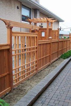 GREEN GARDENS: Western Red Cedar Fence http://99greengardens.blogspot.com/