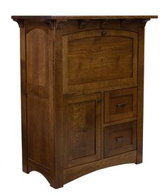 The Oakwood Rolltop Desk Comes Standard With 2 File Drawers 4
