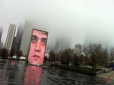 Crown Fountain at Millenium Park - Chicago by miamism, via Flickr