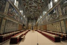 This picture made available Tuesday, March 12, 2013 by the Vatican newspaper L'Osservatore Romano shows where the cardinals will be sitting inside the Sistine Chapel during the conclave voting, at the Vatican.